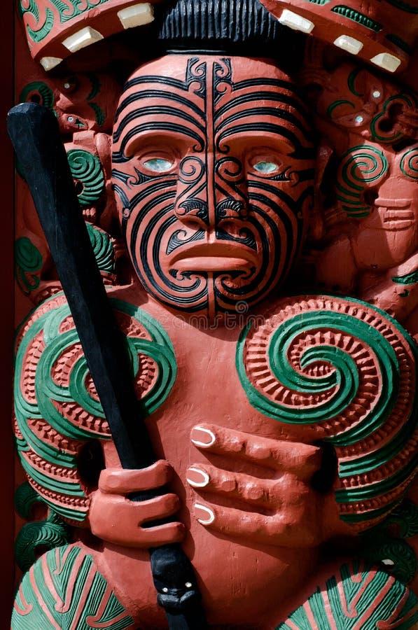 Traditional Maori Toi whakairo art carving. A a Māori traditional art of carving in wood, stone or bone royalty free stock photo
