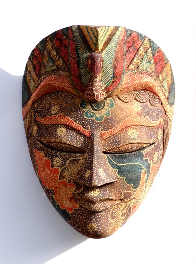 Download Traditional Mask on White stock image. Image of indonesia - 44447