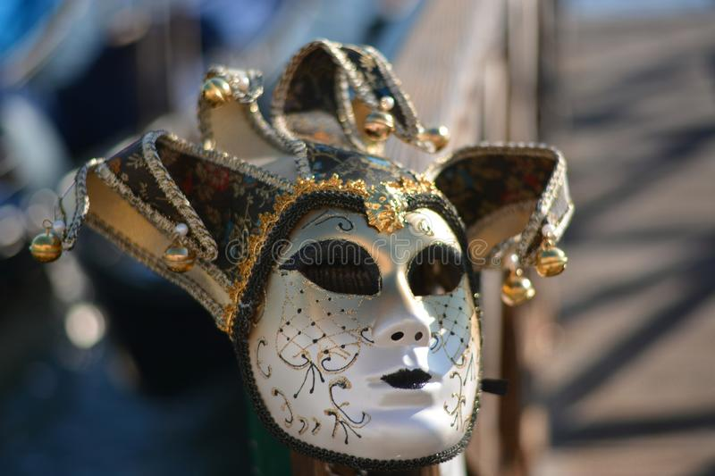 Traditional masks for carnival stock photos