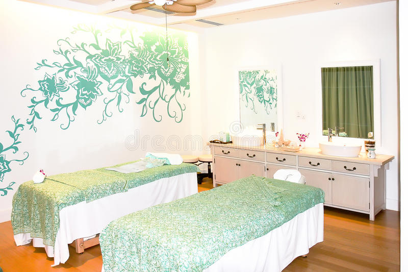 Traditional Massage Cabinet & Relaxation. Massage Room in Port Dickson Resort stock image
