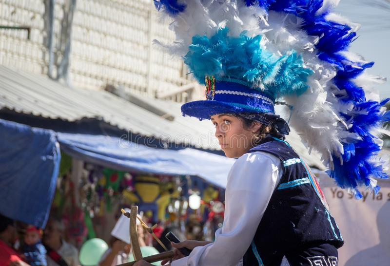 Traditional matachin mexican religious dancers stock image