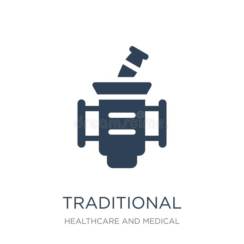 Traditional medicine icon in trendy design style. traditional medicine icon isolated on white background. traditional medicine. Vector icon simple and modern royalty free illustration