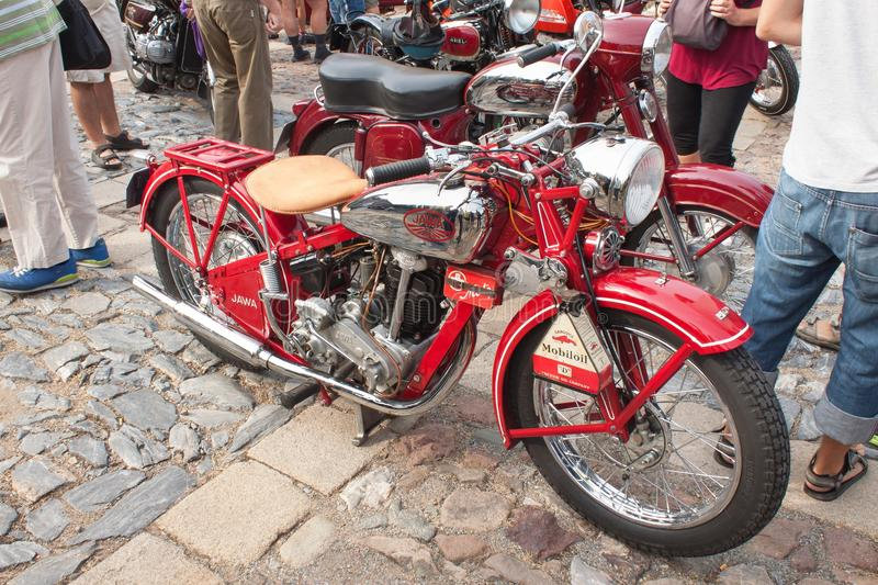 Traditional meeting of fans of vintage cars and motorbikes. TISNOV, CZECH REPUBLIC - SEPTEMBER 3, 2016: The traditional meeting of fans of vintage cars and royalty free stock photography