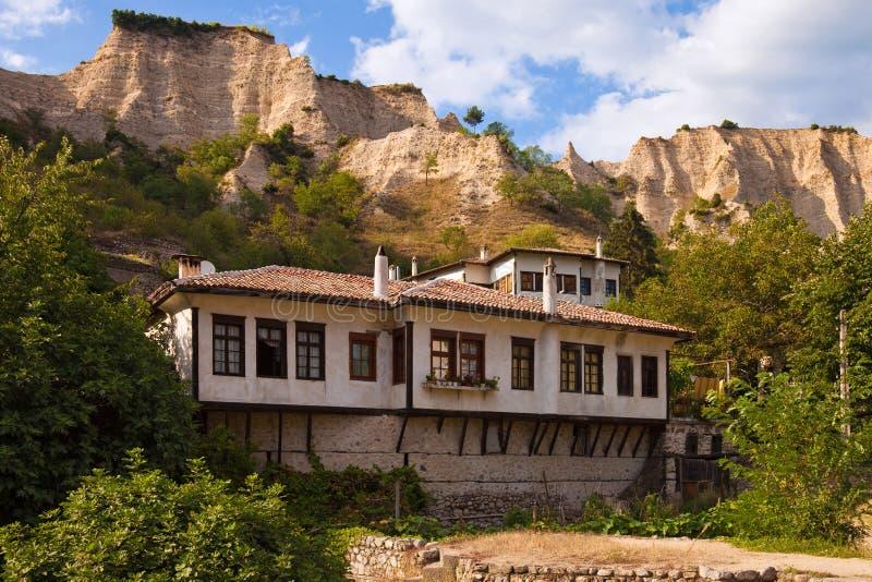 Traditional Melnik House royalty free stock photo