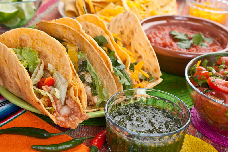 Traditional Mexican Food stock photo
