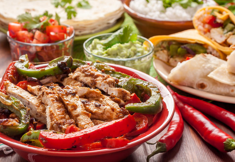 Traditional Mexican Food Ingredients royalty free stock photo
