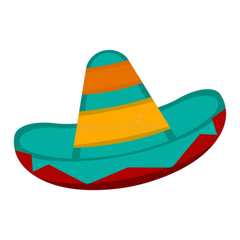 Traditional mexican hat. Isolated traditional mexican hat. Sombreo - Vector illustration stock illustration