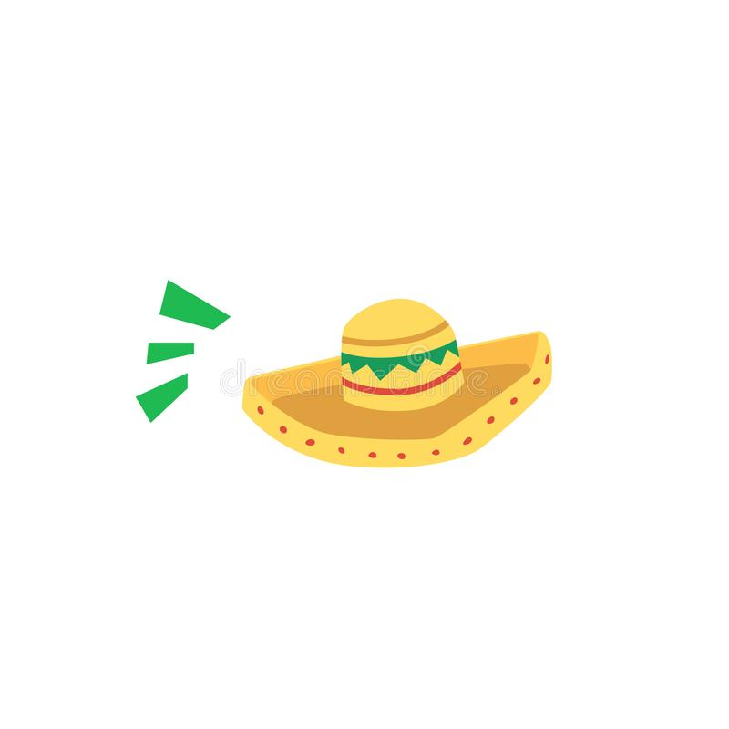 Traditional mexican hat symbol sombrero, icon for the holiday Cinco de Mayo. royalty free illustration