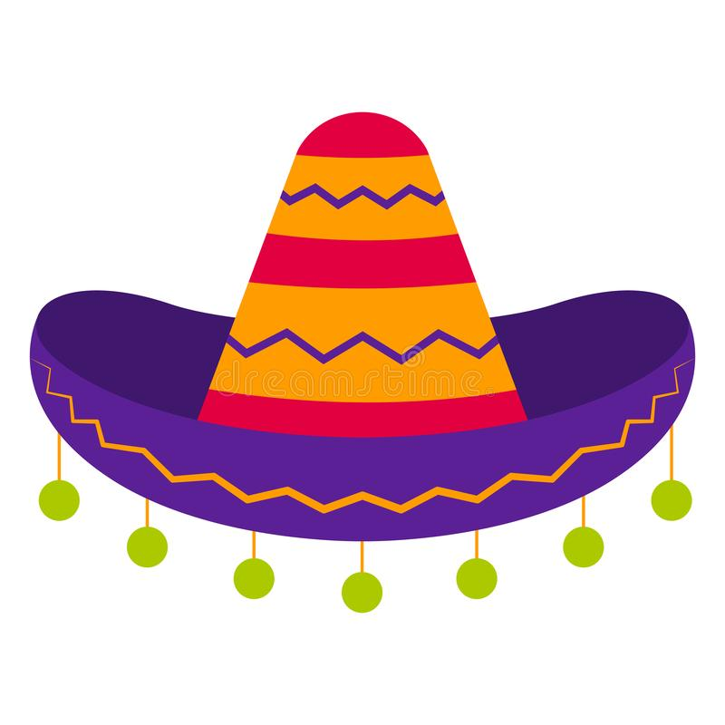 Traditional mexican hat. Over awhite background - Vector vector illustration