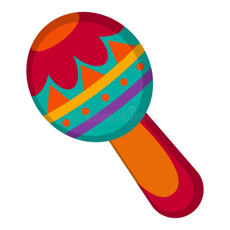 Traditional mexican maraca. On a white background - Vector stock illustration
