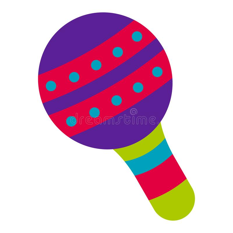 Traditional mexican maraca. On a white background - Vector vector illustration