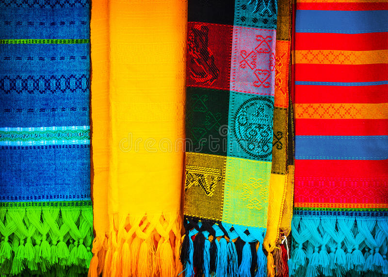 Traditional mexican neckerchief stock images