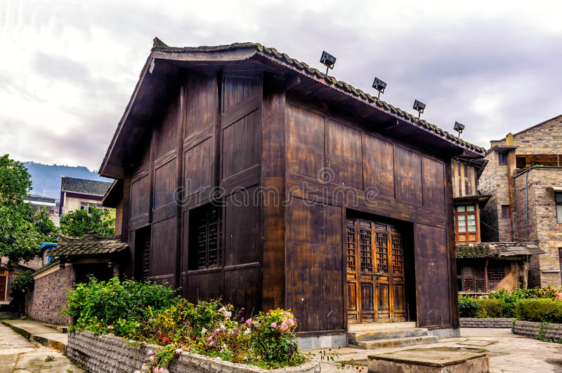 Traditional Miao House. The traditional Miao house at the ancient town of Zhenyuan in Guizhou province stock image