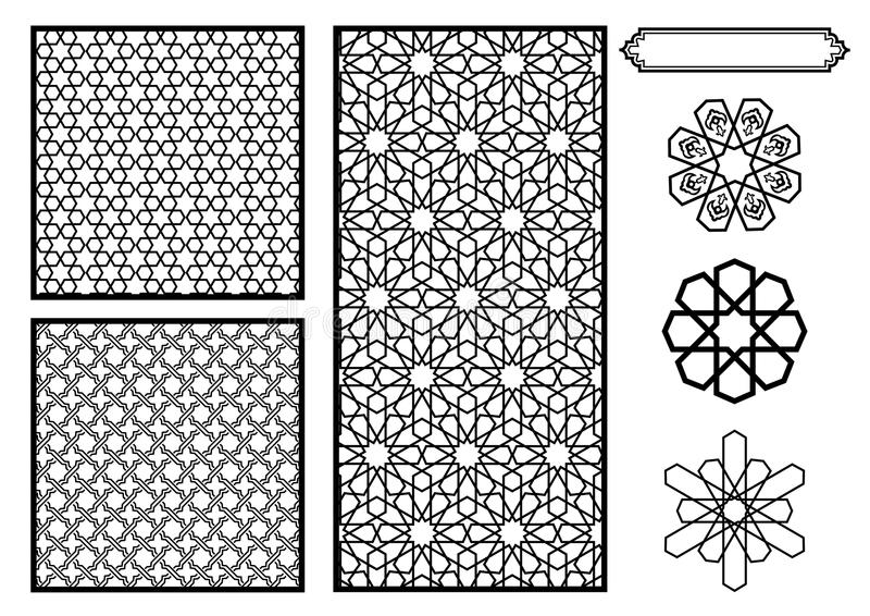 Traditional Middle Eastern / Islamic Patterns. Vector