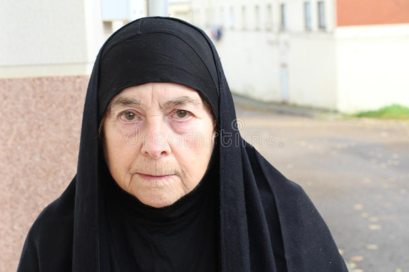Traditional middle eastern senior woman stock photos
