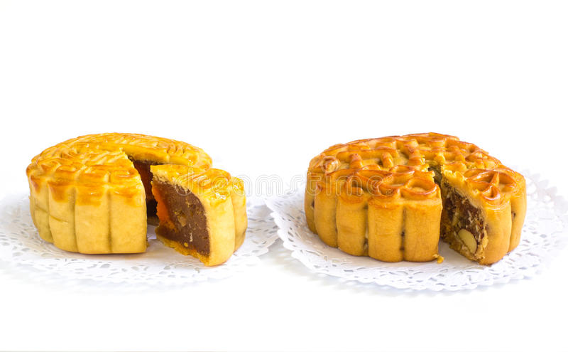 Download Traditional Mooncake On Paper Doily Stock Photo - Image of culture, cake: 83708524