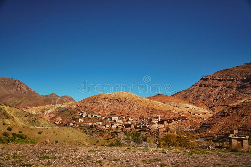 Traditional Moroccan desert countryside royalty free stock photos