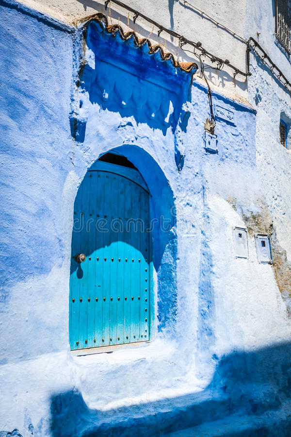 Free Traditional Moroccan Door Detail In Chefchaouen, Morocco, Africa Royalty Free Stock Photos - 66419548