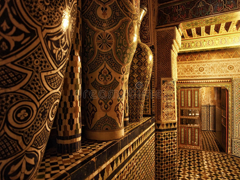 Traditional Moroccan Entrance Stock Images