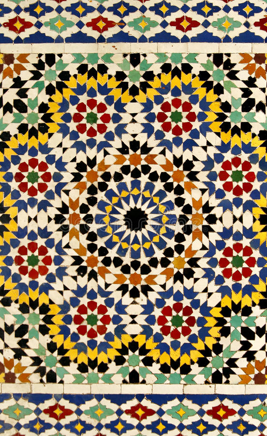 Free Traditional Moroccan Tile Pattern Stock Photography - 10855272