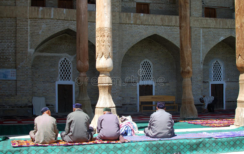 Traditional mosque in Uzbekistan royalty free stock photography