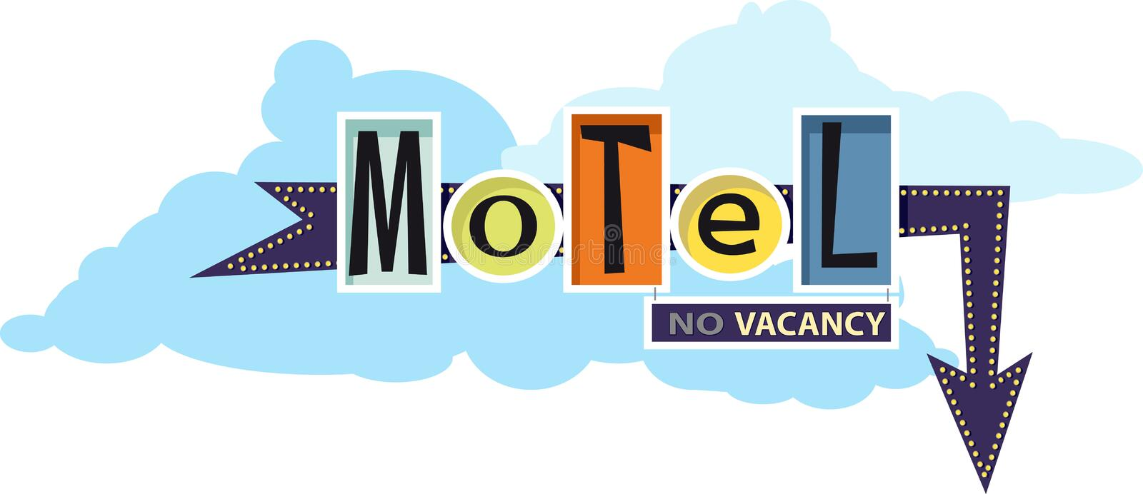 Traditional motel sign stock illustration