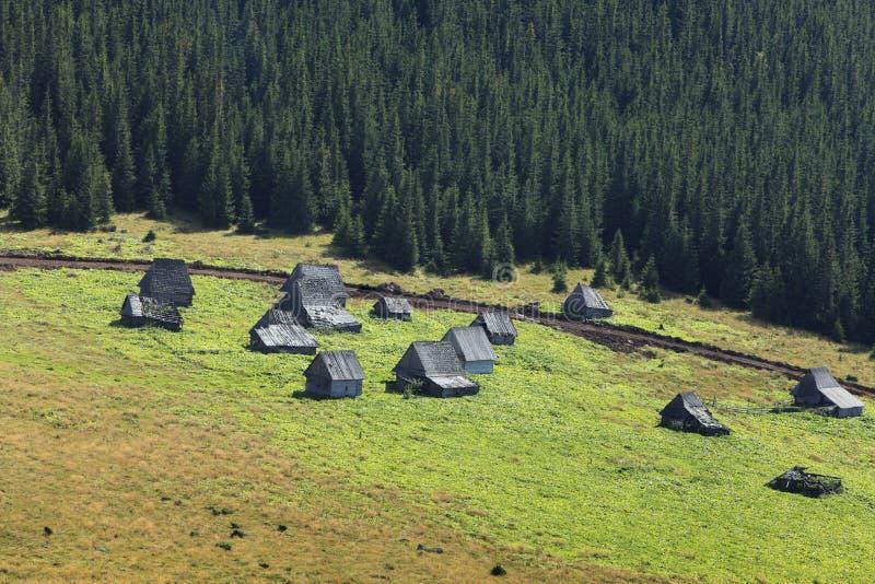 Traditional Mountain Village In Transylvania Stock Photo