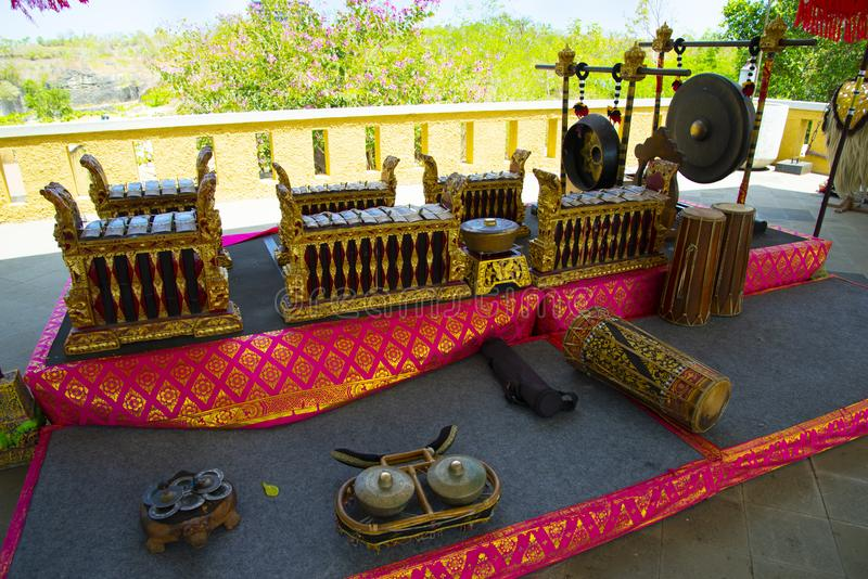 Traditional Music Instruments. In Indonesia royalty free stock photos