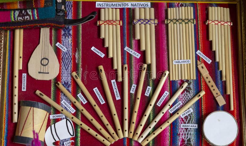 traditional musical instruments of Peru royalty free stock image