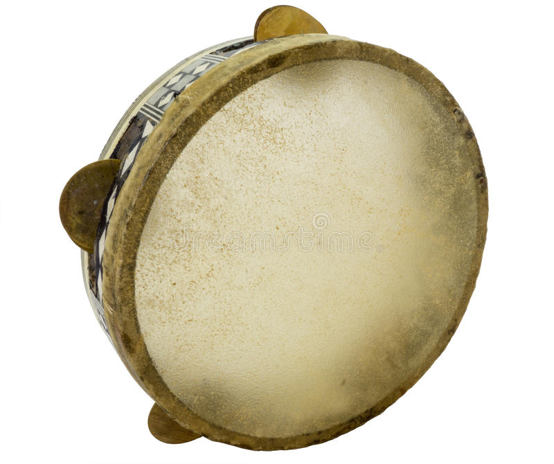Traditional musical instument egyptian tambourine made of camel royalty free stock photos