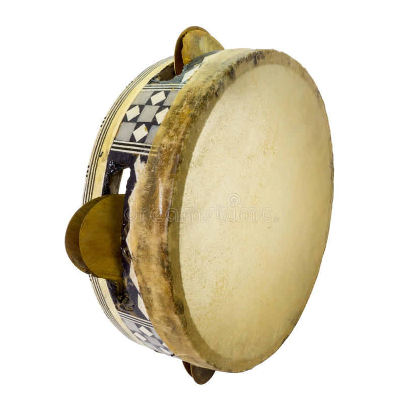 Traditional musical instument egyptian tambourine made of camel royalty free stock image