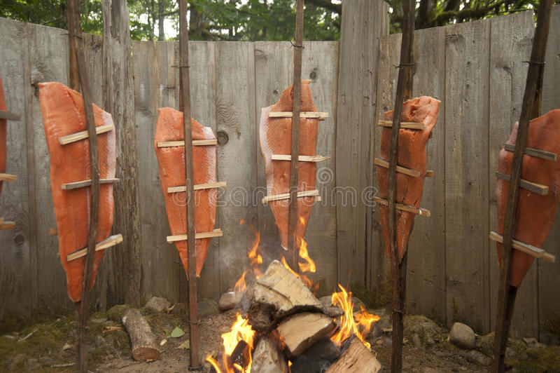 Download Traditional Native American Salmon Stock Image - Image: 17405199