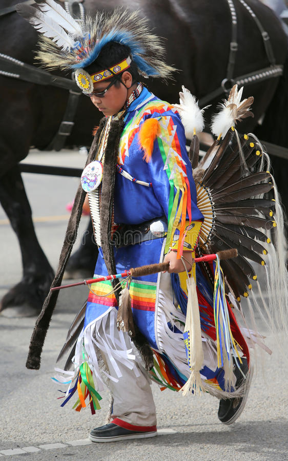 Traditional Native Dress in a Parade royalty free stock images