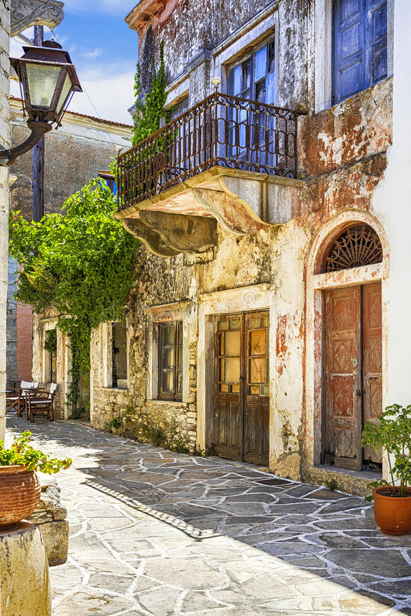 Free Traditional Naxos Island,Old Streets.Greece. Royalty Free Stock Image - 74642876