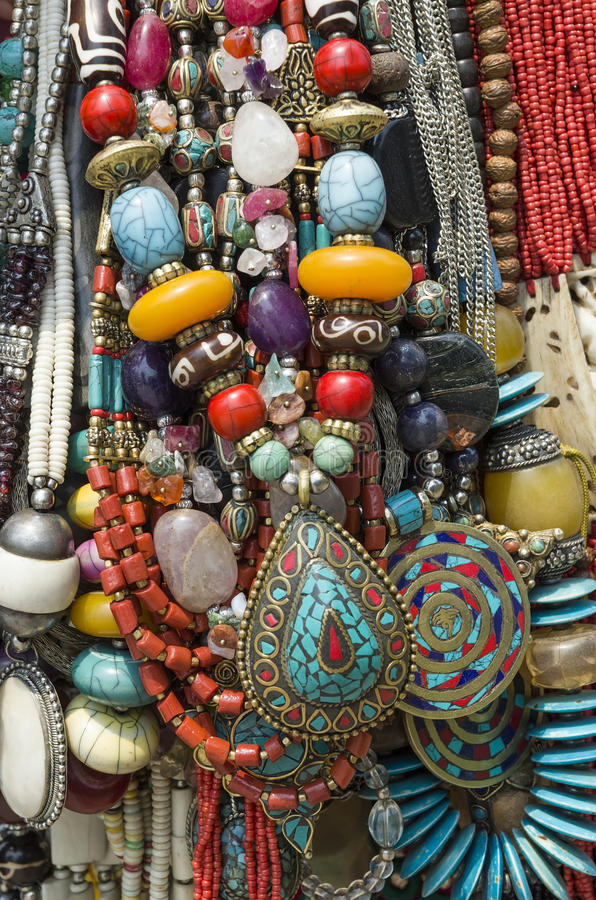 Traditional Nepalese Beads. Beautiful traditional Nepalese beads handicraft royalty free stock images