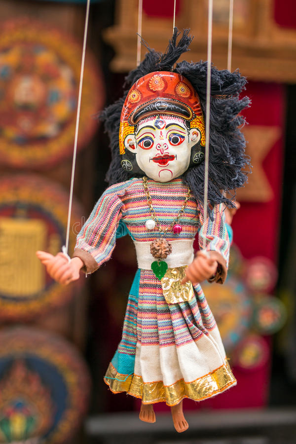 Traditional Nepalese puppet royalty free stock photos