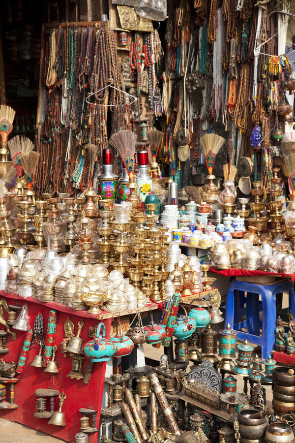 Traditional Nepalese Trinkets stock photos