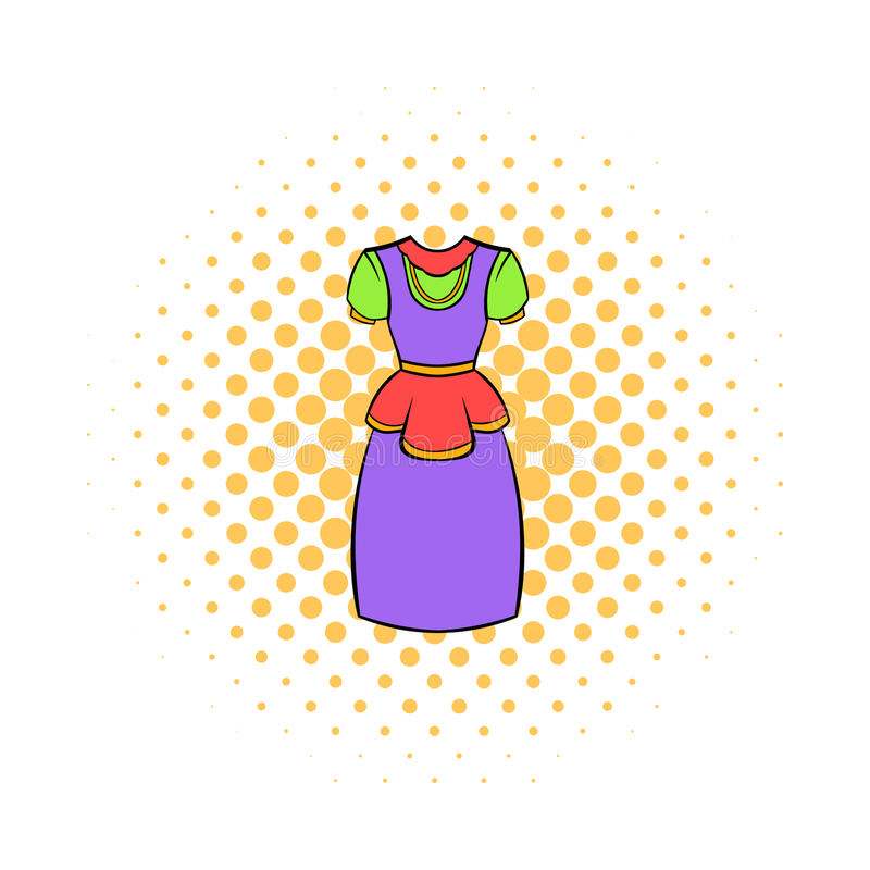 Traditional Netherlands costume icon, comics style. Traditional Netherlands costume icon in comics style on a white background royalty free illustration