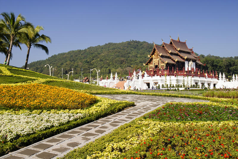 Northern Traditional Thai Style Architecture Stock Photo