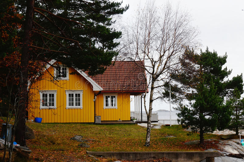 Traditional Norwegian cottage royalty free stock photography