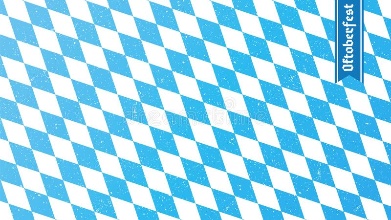 Traditional oktoberfest rhombus blue and white print. Bavarian flag. royalty free illustration