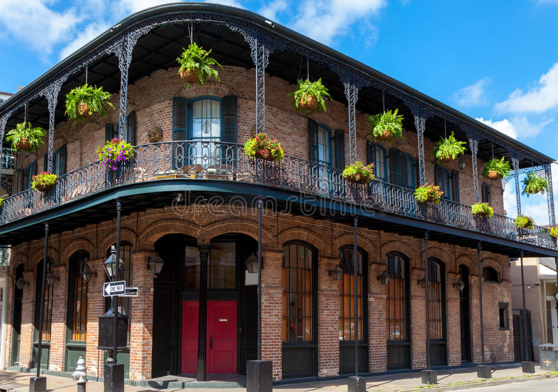 Traditional old building New Orleans. A traditional building in the French Quarter New Orleans royalty free stock photography