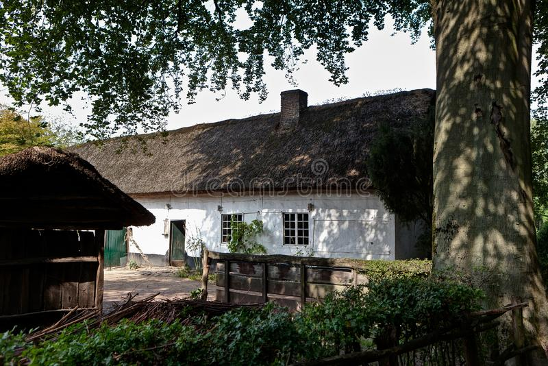 Traditional old farm, Bokrijk, Limbourg, Belgium stock photo