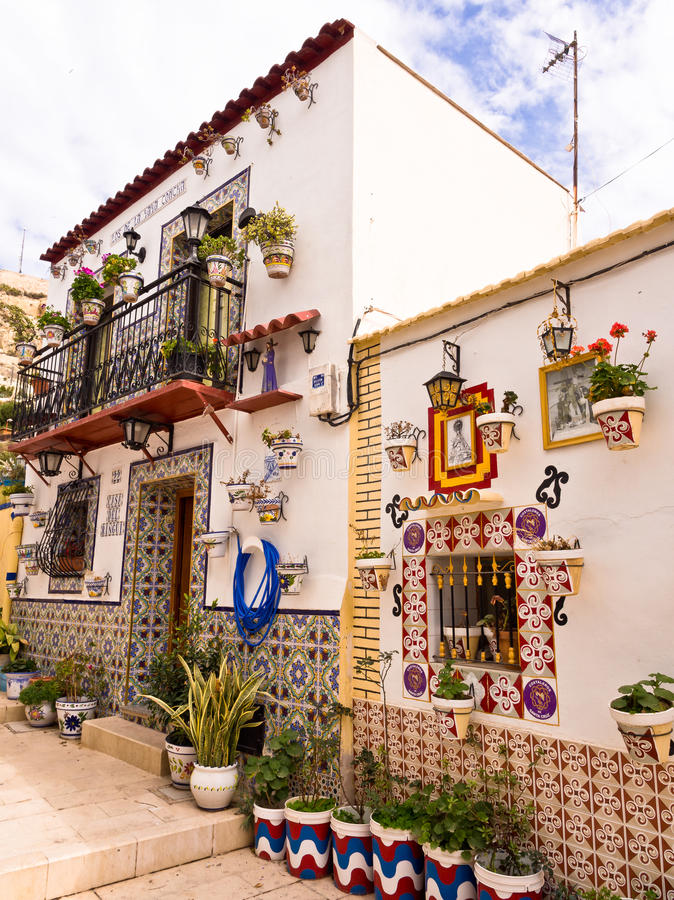 Traditional Old House in Alicante, Spain royalty free stock photography