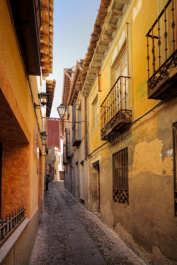 Download Traditional Old Spanish Street Stock Photo - Image of urban, history: 27888530
