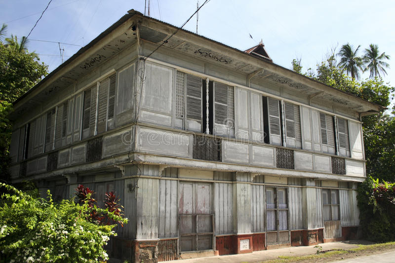 Traditional old style house philippines lifestyle stock image