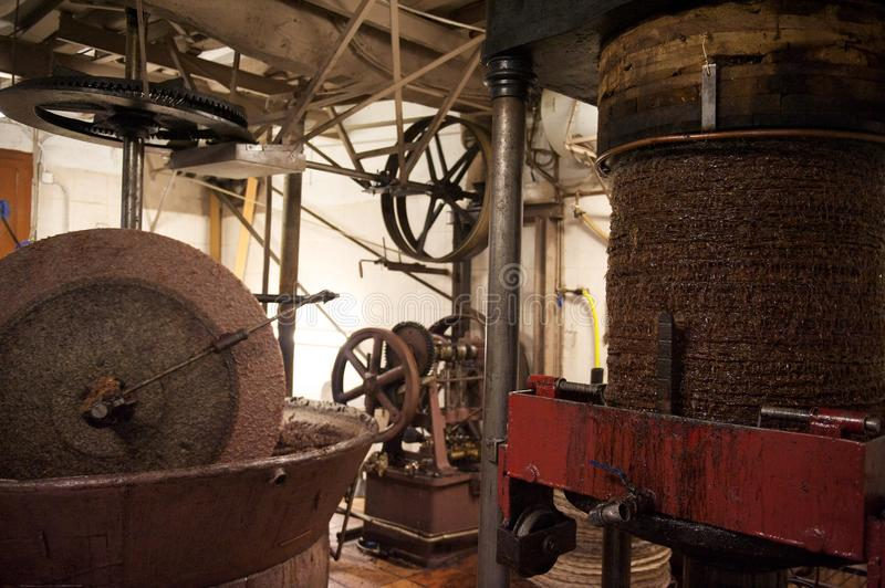 Traditional olive oil mill stock photos