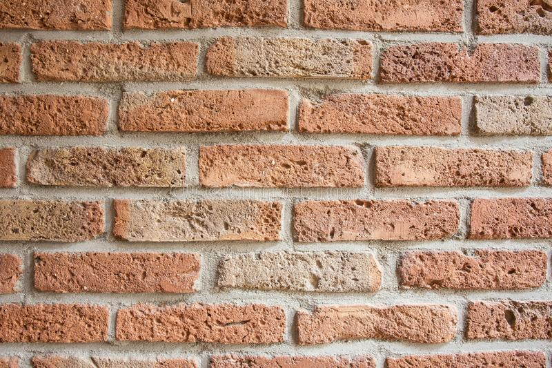 Traditional orange brick tiles background texture royalty free stock images