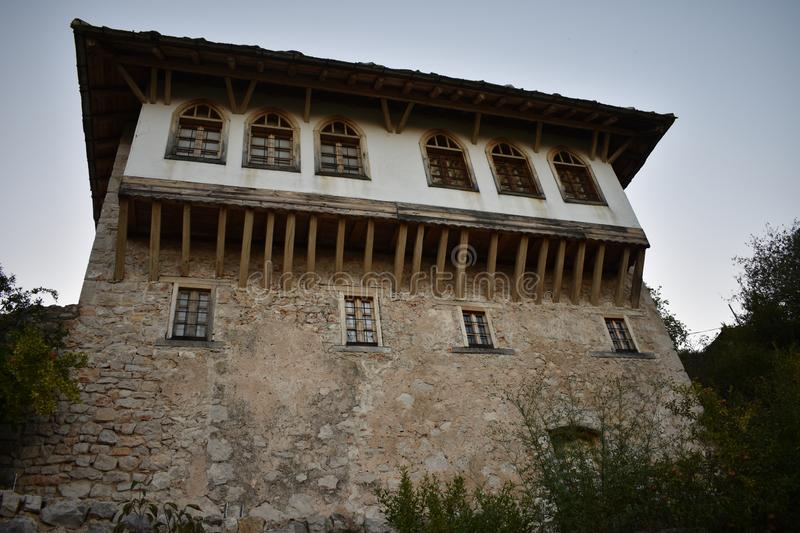 The traditional,oriental bosnian house in Pocitelj royalty free stock images