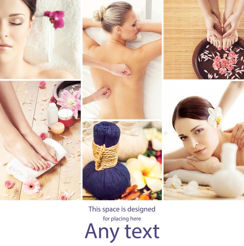 Young, beautiful and healthy woman getting traditional oriental aroma therapy and massaging treatments. Girl relaxing in spa royalty free stock image